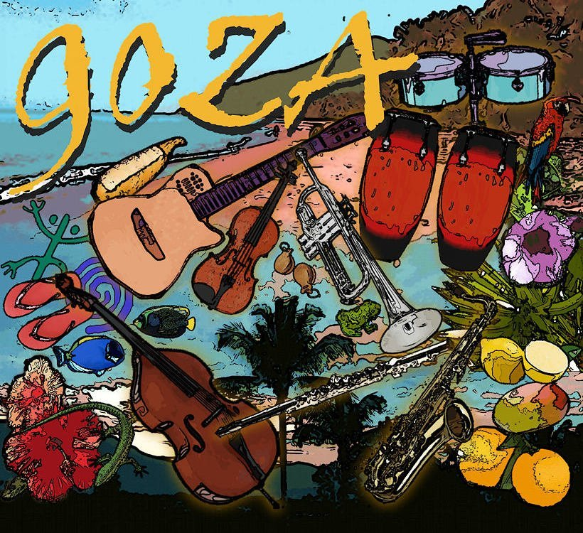 The front cover of Goza's self-titled CD
